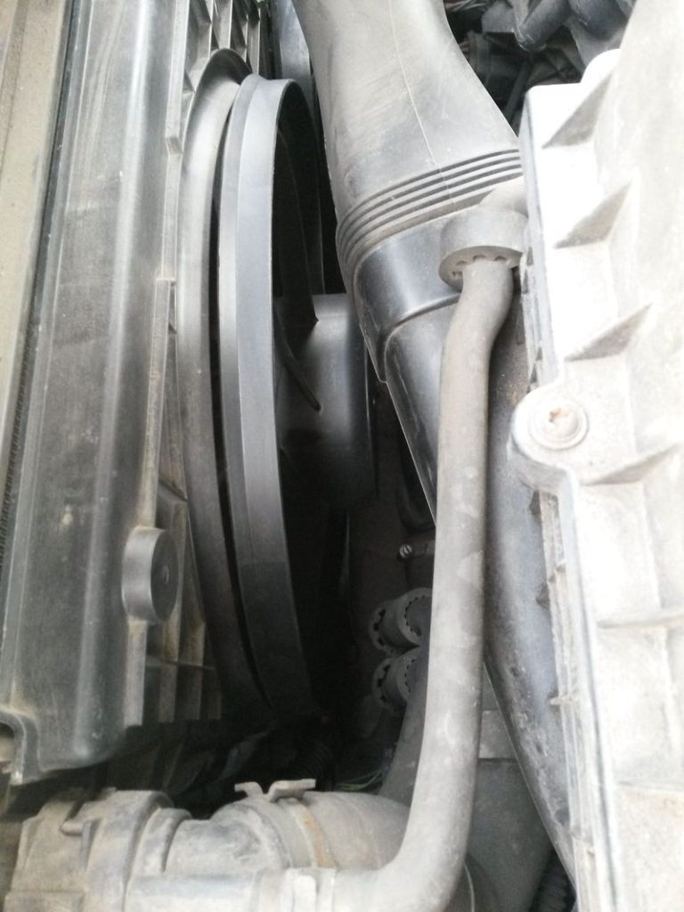 Замена вентилятора охлаждения Tiguan 35