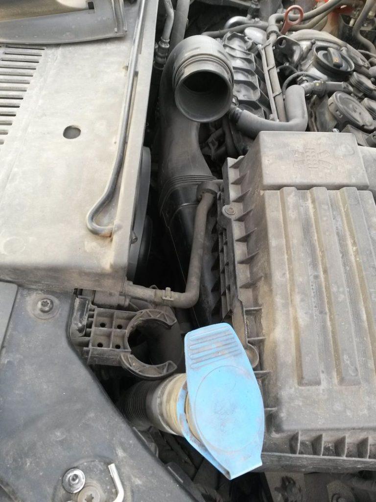 Замена вентилятора охлаждения Tiguan 9