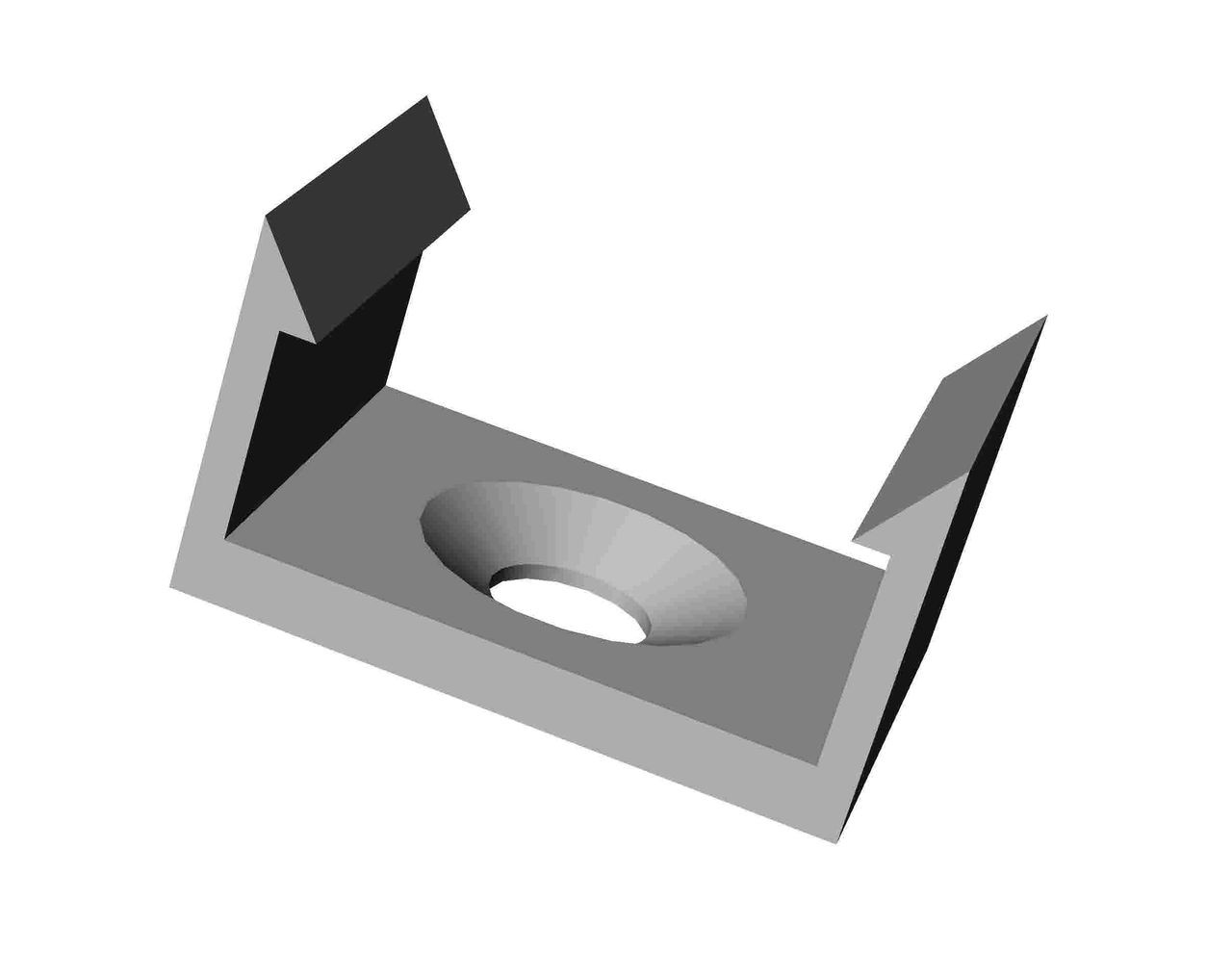 Крепёжная скоба для кухонной лампы