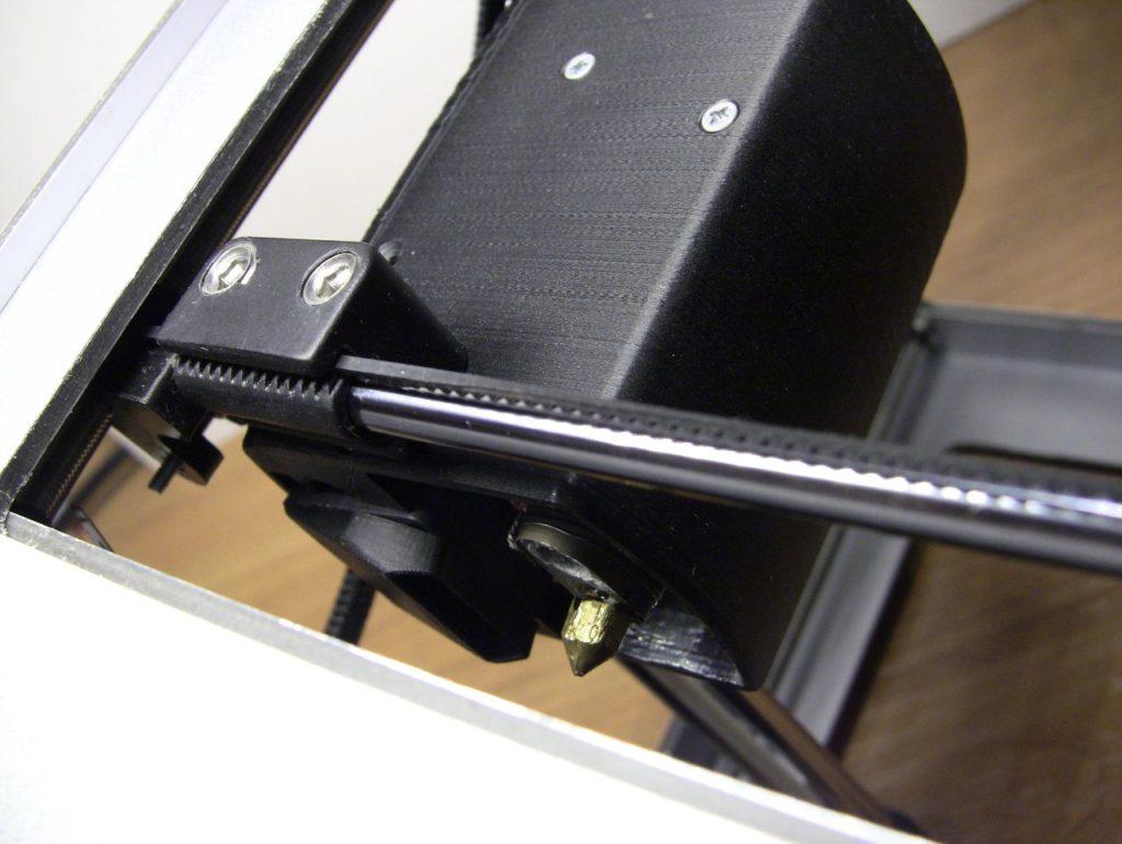 3D принтер Cactus CS-3D MICRO C1. Экструдер. Внешний вид. Ремень оси Y. Направляющие оси.