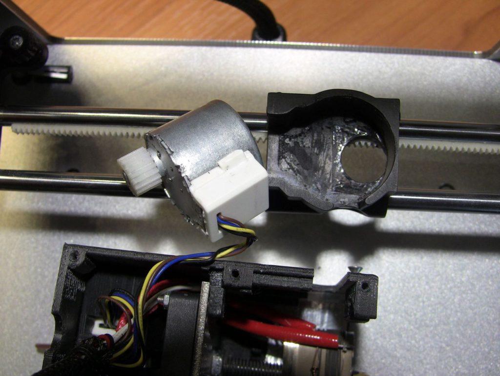 Ремонт экструдера Cactus CS-3D Micro C1. 4