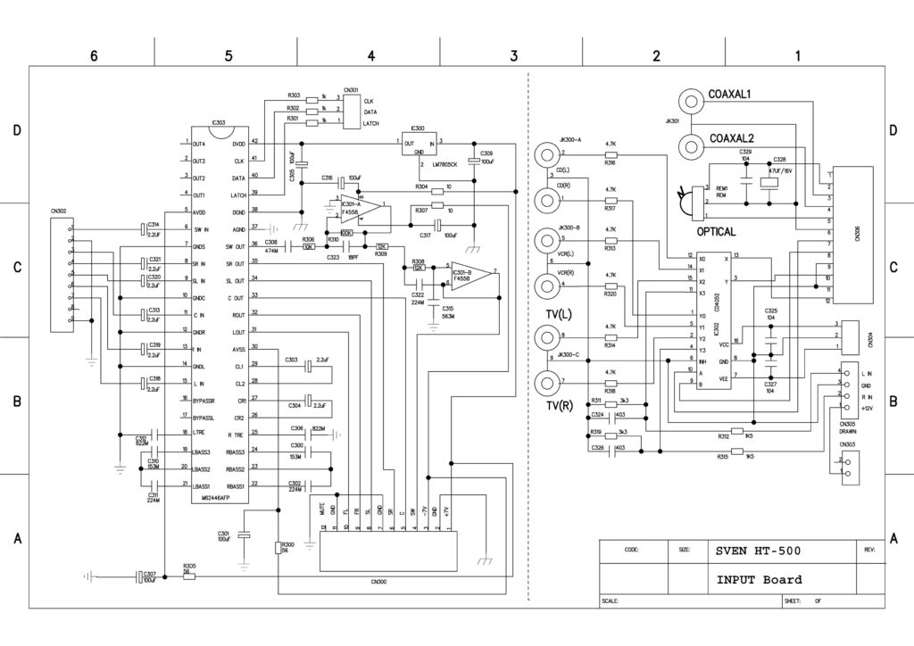 HT-500 input board