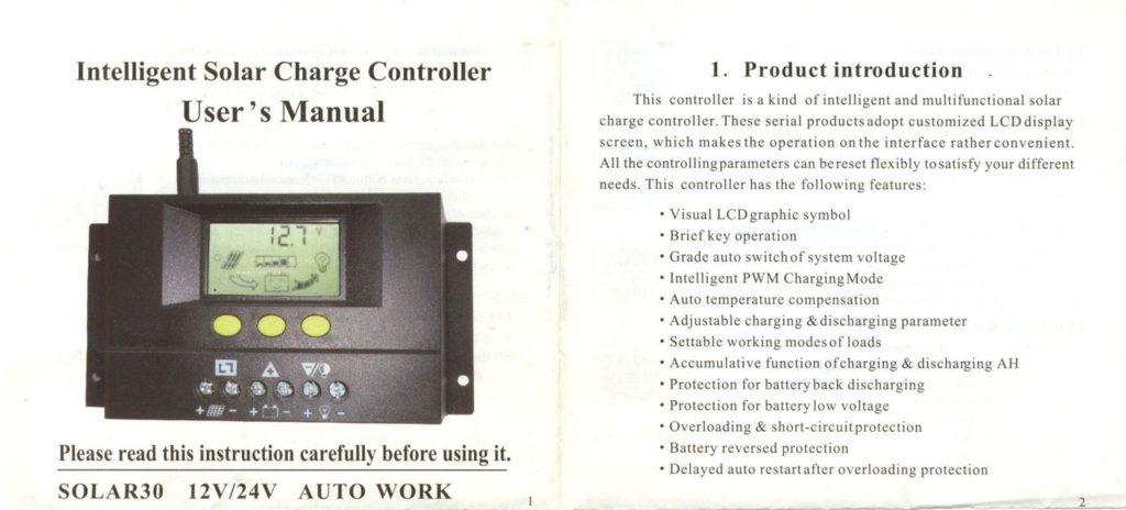 SOLAR30 Manual
