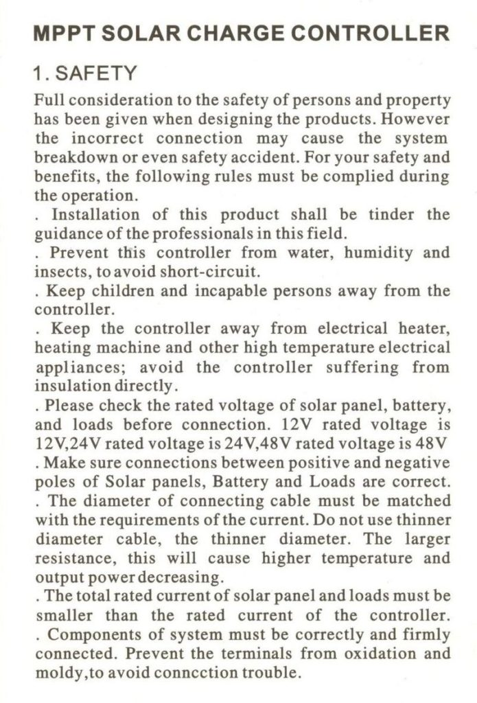 Контроллер заряда от солнечных батарей Solar Charge Controller CMTP02 2