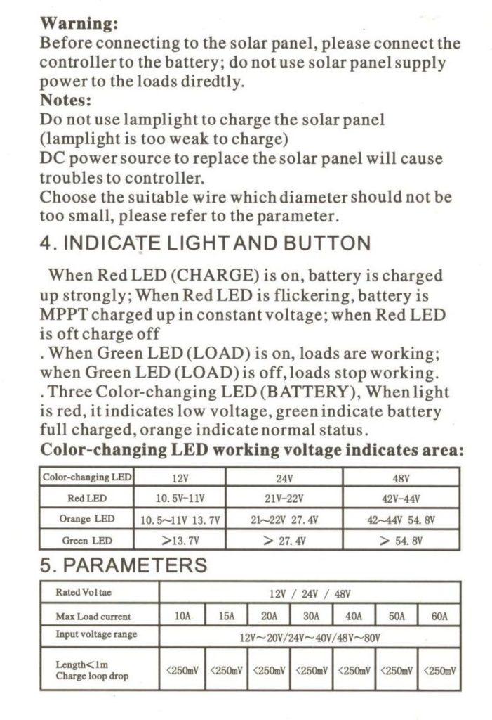 Контроллер заряда от солнечных батарей Solar Charge Controller CMTP02 4