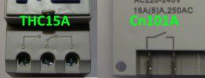Группы контактов реле таймеров Oktimer THC15A и Cn101A